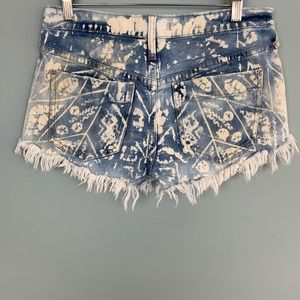Free People Shorts - Free People Bleached Striped Pocket Denim Shorts
